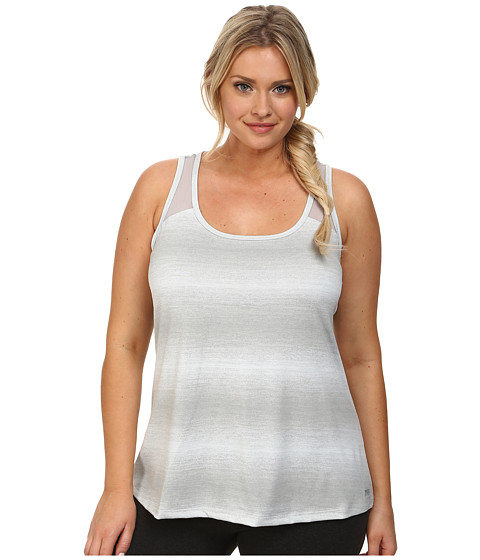 Marika Curves Plus Size Ava Singlet (Gray Dawn) Women's Workout