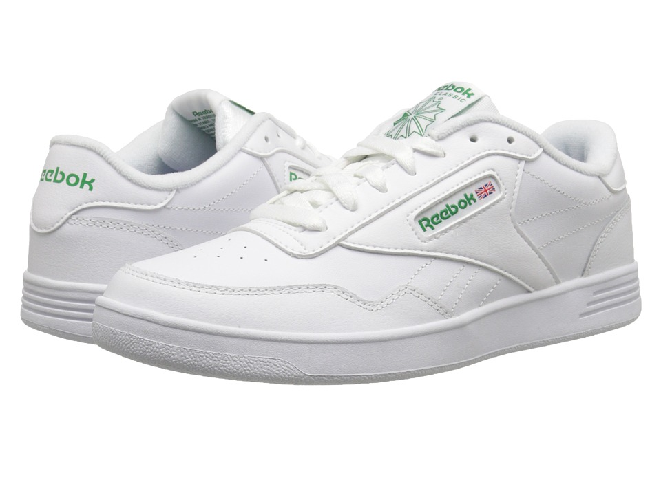 Reebok Lifestyle - Club Memt (White/Glen Green) Mens Classic Shoes