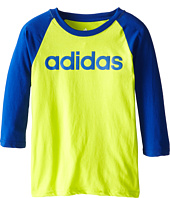 adidas Kids - 3/4 Baseball Shirt (Big Kids)