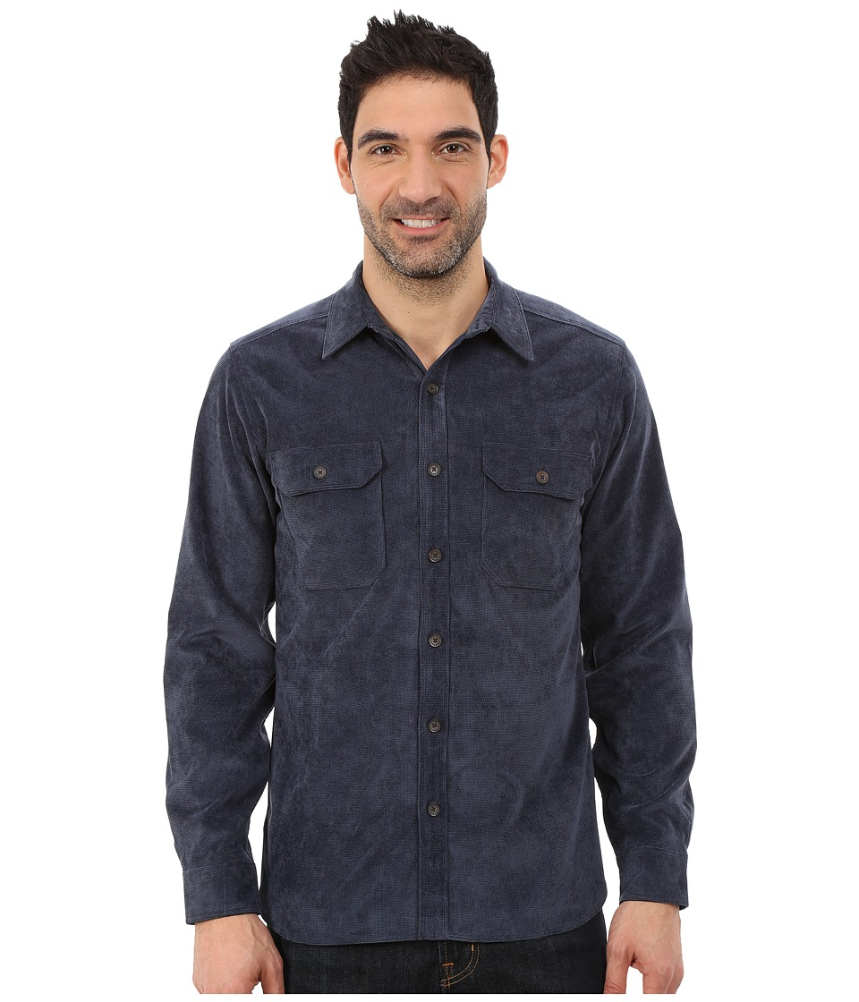 Royal Robbins - Grid Cord Long Sleeve Shirt (Deep Blue) Mens Long Sleeve Button Up