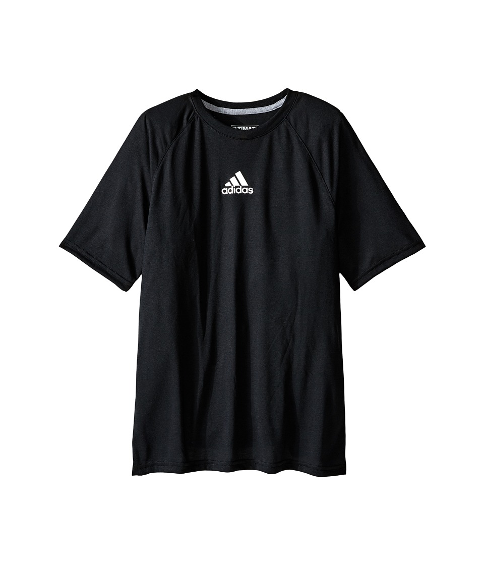 adidas Kids Ultimate Raglan Short Sleeve Big Kids Black Boys T Shirt