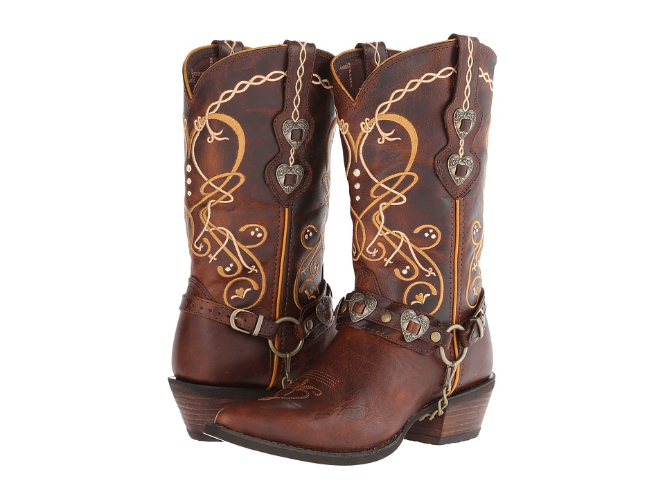 Durango - Crush Cowgirl Boot (Brown) Cowboy Boots