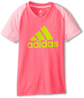 adidas Kids - CLIMALITE® S/S Color Block Raglan (Big Kids)