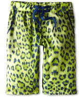 Roberto Cavalli Kids - Leopard Print Bermuda Swim Shorts (Big Kids)
