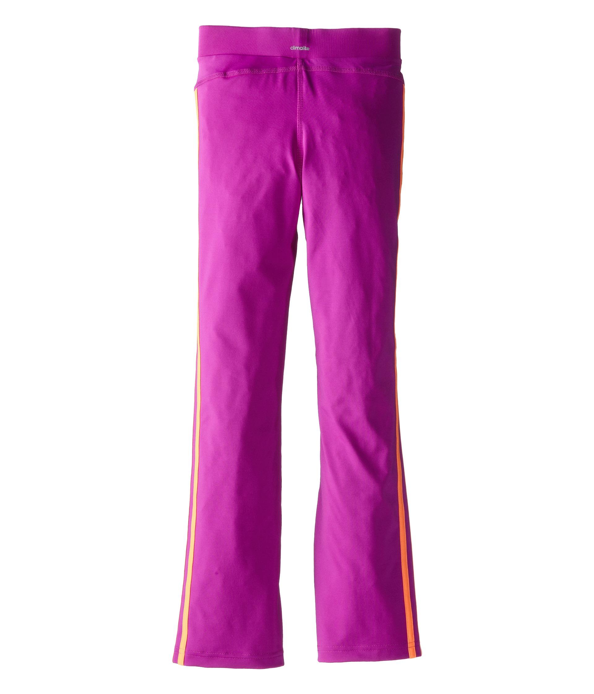 Adidas Kids Yoga Pants W/ Color Stripes (Big Kids) Flash