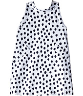 Oscar de la Renta Childrenswear - Ikat Dot Cotton Canvas Dress (Toddler/Little Kids/Big Kids)