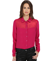 Armani Jeans - Silk/Tule Long Sleeve Shirt