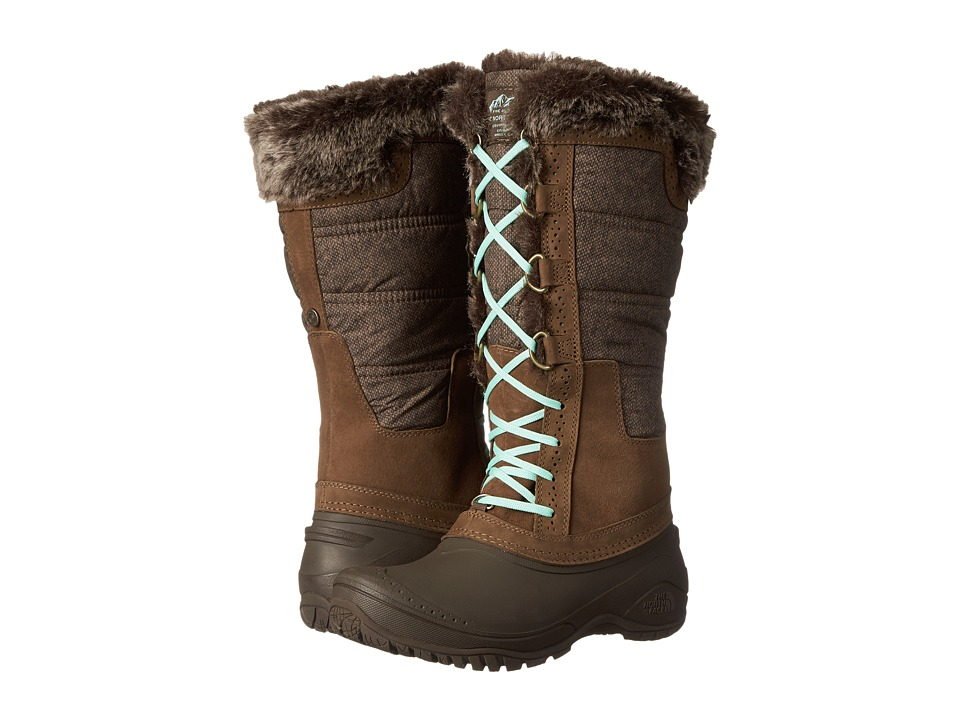 The North Face Shellista II Tall (Desert Palm Brown/Surf Green (Prior Season)) Women's Cold Weather Boots