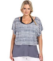 Marika Curves - Plus Size Valerie Tie Dye Layered Short Sleeve