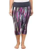 Marika Curves - Plus Size Framed Tummy Control Capri Leggings