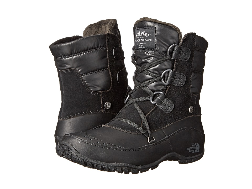 The North Face Nuptse Purna Shorty (TNF Black/Plum Kitten Grey (Prior Season)) Women's Cold Weather Boots