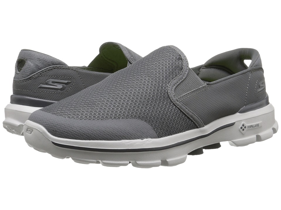 SKECHERS Performance - Go Walk 3 - Charge (Charcoal) Men