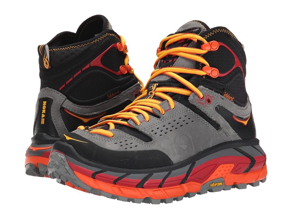 Hoka One One - Tor Ultra Hi WP (Black/Flame) Womens Running Shoes