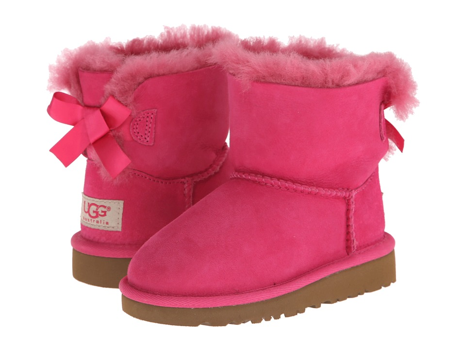 UGG Kids Mini Bailey Bow (Toddler/Little Kid) (Cerise) Girls Shoes