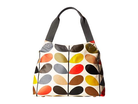 Orla Kiely Matt Laminated Classic Multi Stem Classic Zip Shoulder Bag - Multi