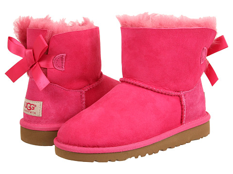 UGG Kids Mini Bailey Bow (Little Kid/Big Kid) - Cerise