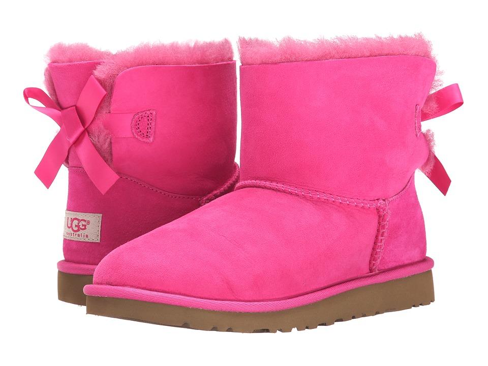 UGG Kids Mini Bailey Bow (Big Kid) (Cerise) Girls Shoes