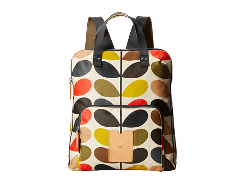 Orla Kiely Matt Laminated Classic Multi Stem Backpack Tote - Multi