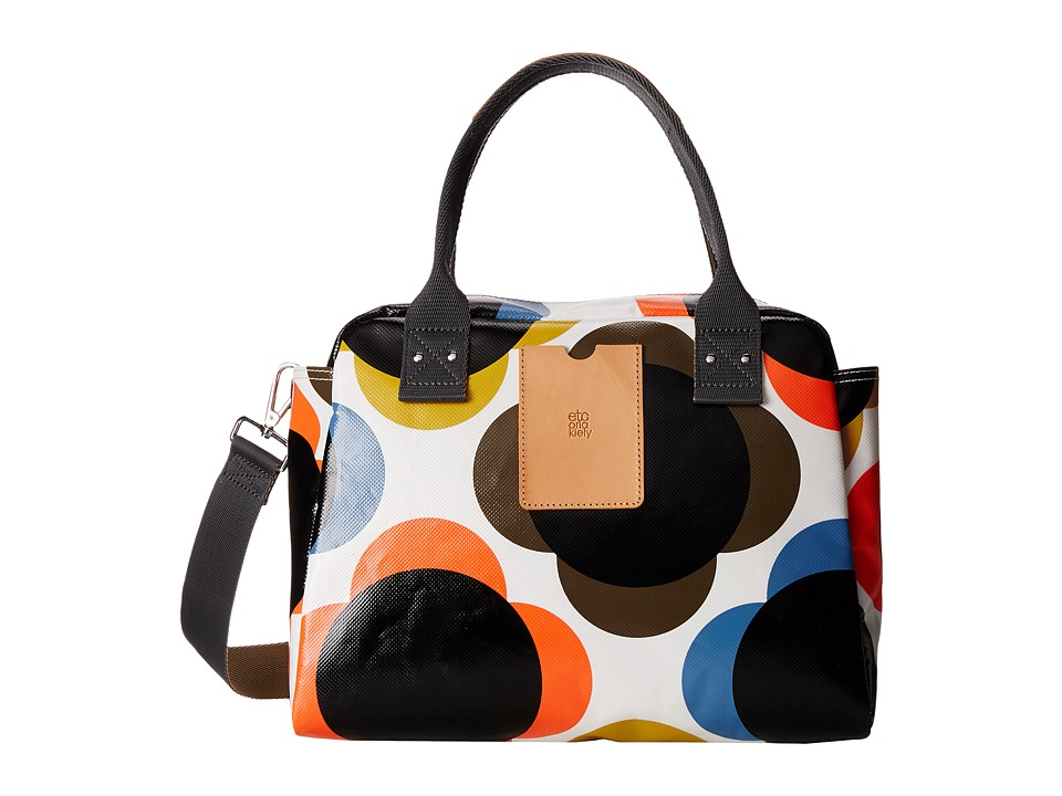 Orla Kiely - Giant Flower Spot Tarplauin Zip Handbag (Multi) Handbags
