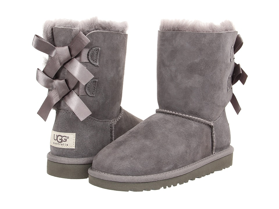 Ugg Kids - Bailey Bow (Little Kid/Big Kid) (Grey) Girls S...