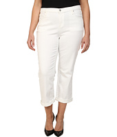 DKNY Jeans - Plus Size Soho Skinny Rolled Crop in White