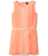 Tommy Hilfiger Kids - Color Block Pleated Chiffon Dress (Big Kids)