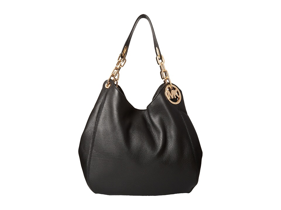 MICHAEL Michael Kors - Fulton Large Shoulder Tote (Black) Handbags