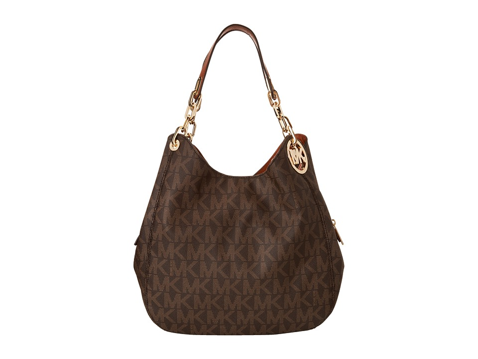 MICHAEL Michael Kors - Fulton Large Shoulder Tote (Brown) Shoulder Handbags