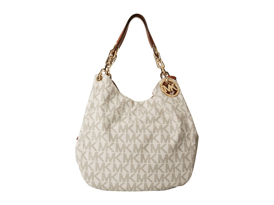 MICHAEL Michael Kors - Fulton Large Shoulder Tote (Vanilla) Shoulder Handbags