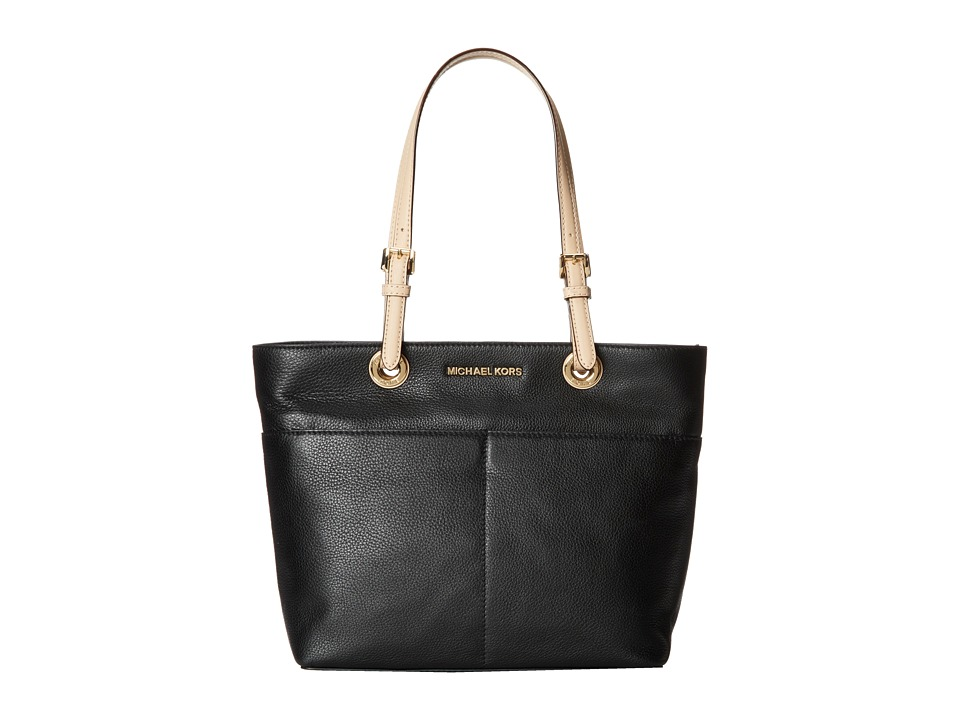 MICHAEL Michael Kors - Bedford Top-Zip Pocket Tote (Black) Tote Handbags