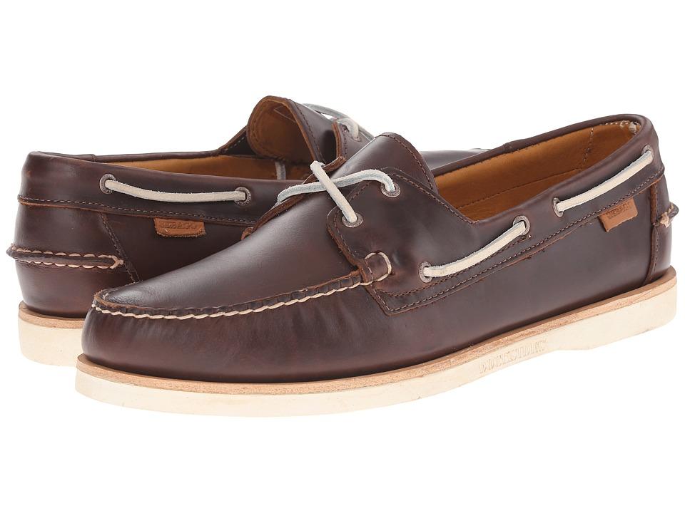 Sebago Crest Dockside Dark Brown Leather Mens Shoes