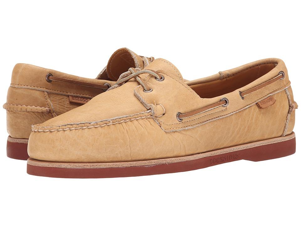 Sebago Crest Dockside Tan Bison Leather Mens Shoes