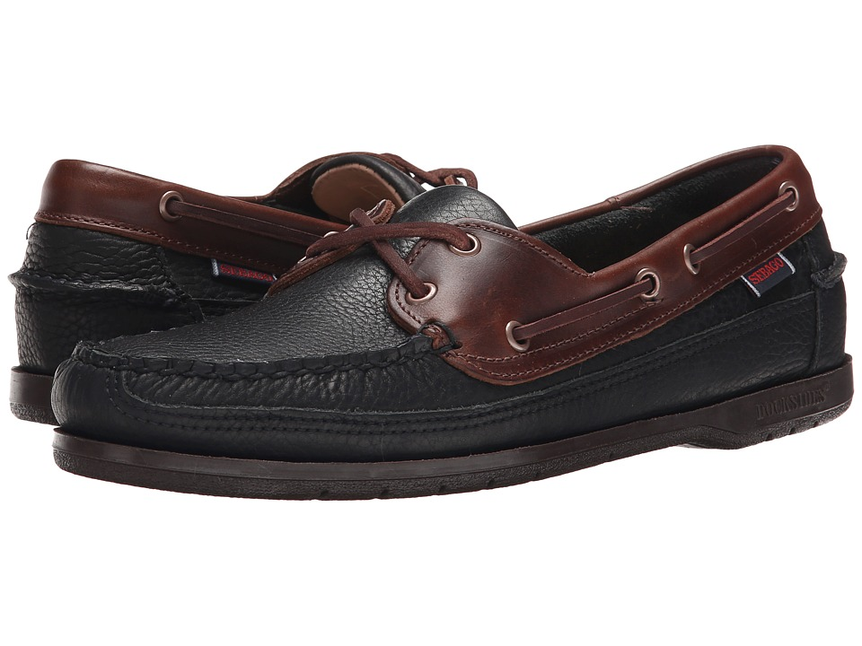 Sebago Schooner (Black/Brown Leather) Men