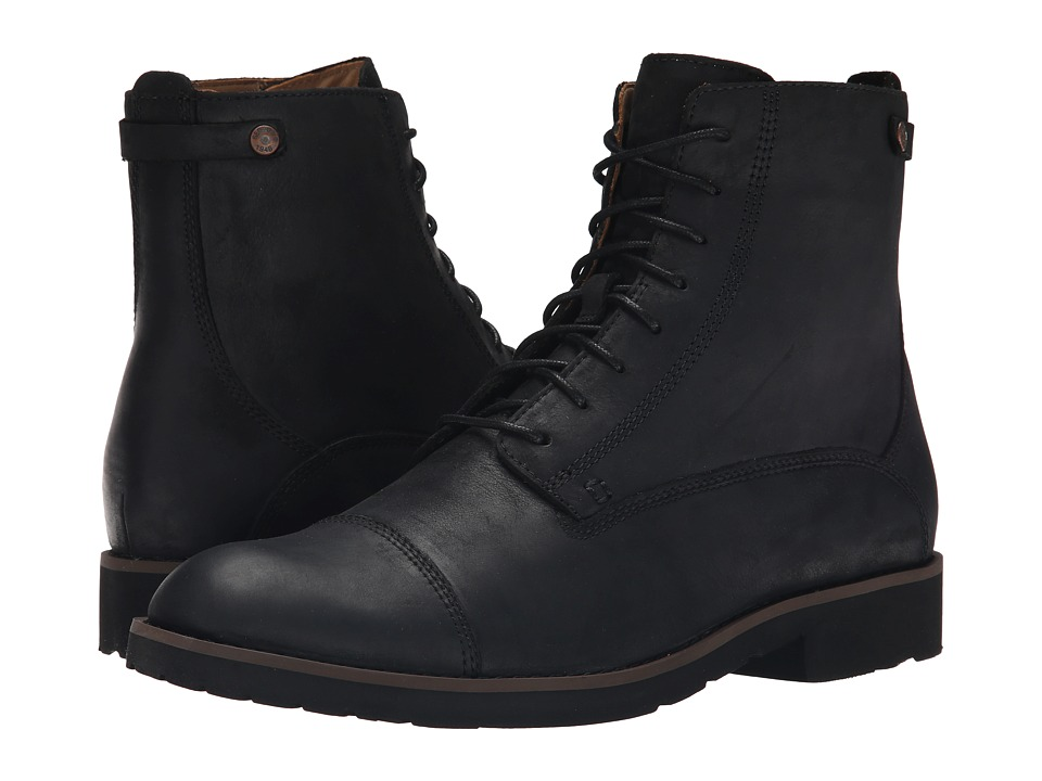 Sebago Rutland Lace Up Boot (Black Leather) Men