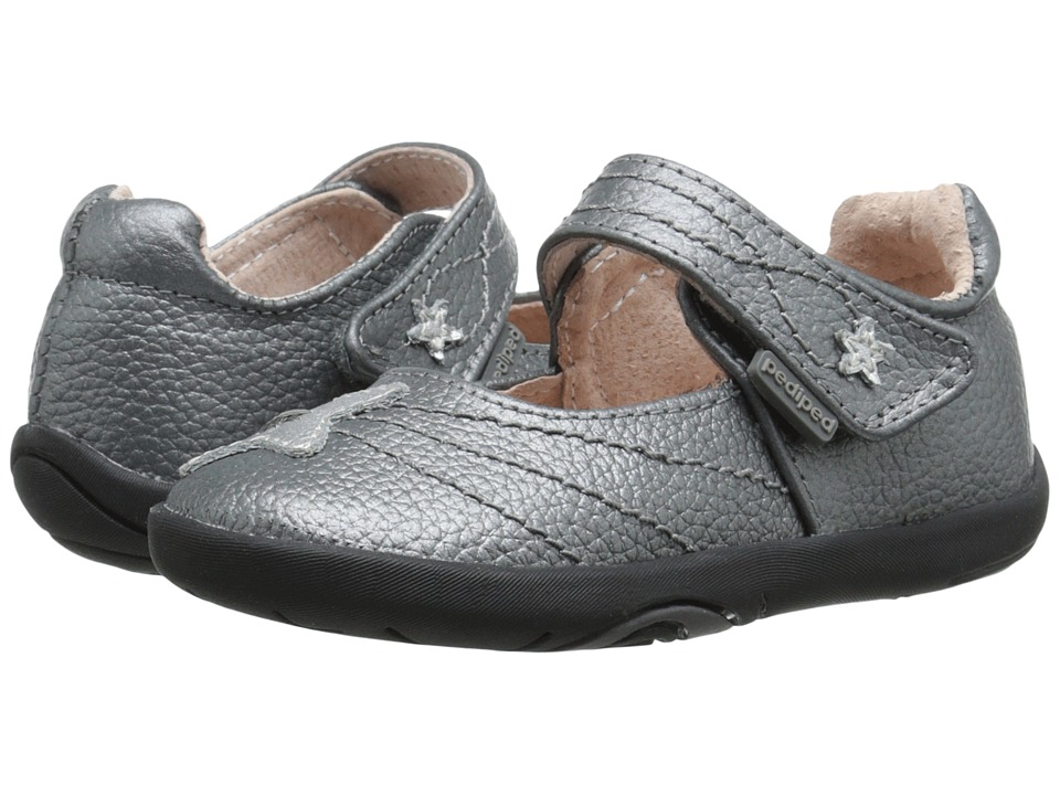 pediped Starlite Grip n Go (Toddler) (Pewter) Girl's Shoes