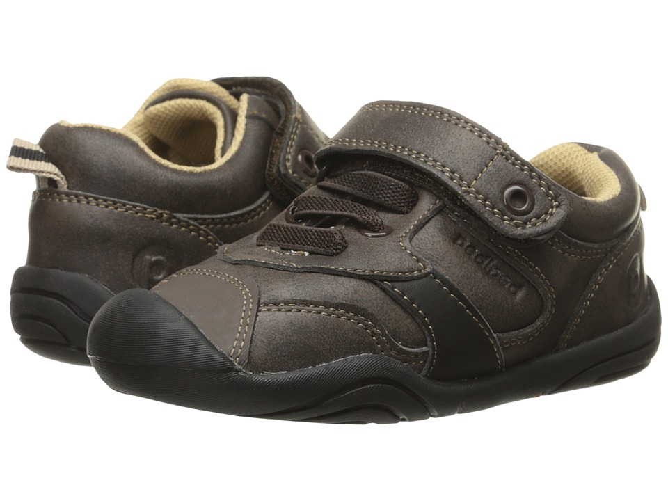 pediped Franklin Grip N Go (Toddler) (Chocolate) Boy's Shoes