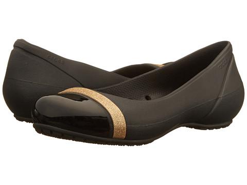 Crocs Womens Cap Toe Shimmer Flats
