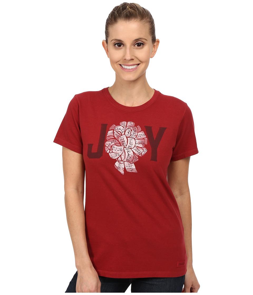 Life is good Crusher Tee Joy Ribbon/Rich Red Womens T Shirt
