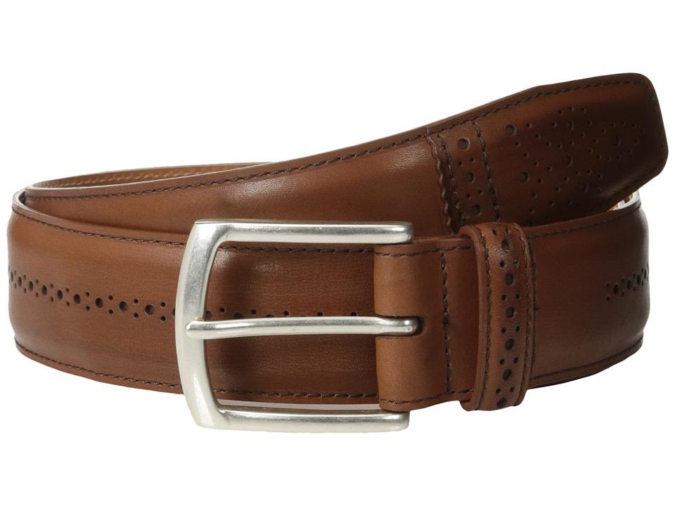 Allen Edmonds Dupont Ave Tan Saddle Mens Belts