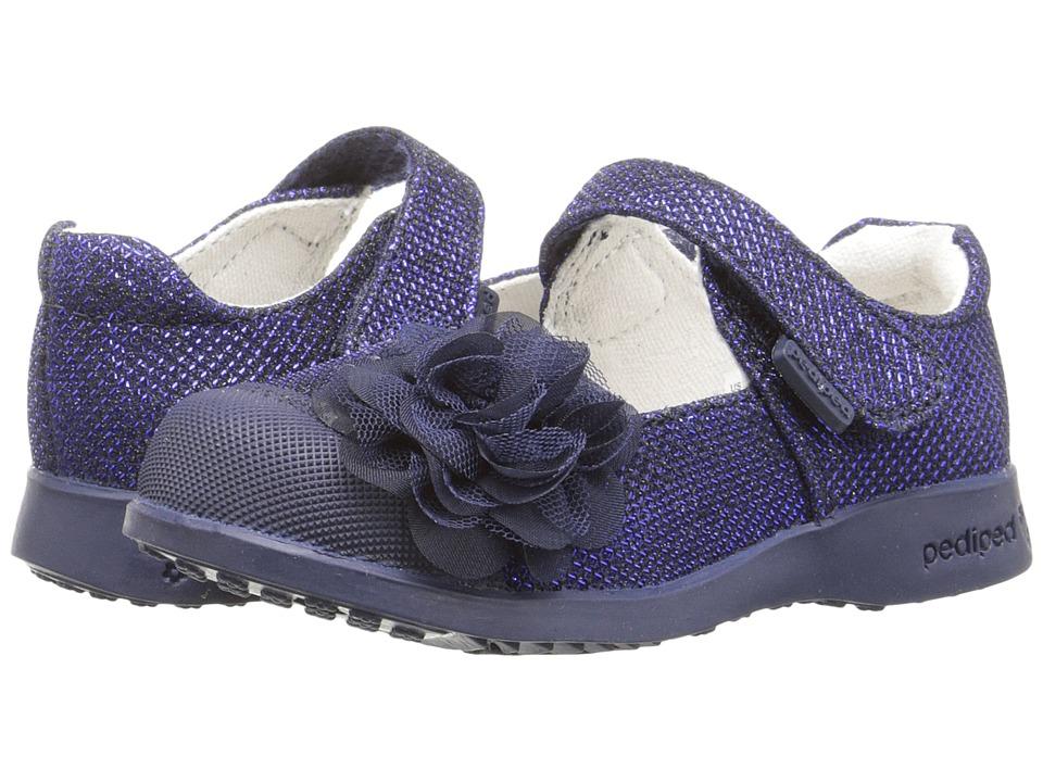 pediped Estella Flex (Toddler/Little Kid) (Navy) Girls Shoes