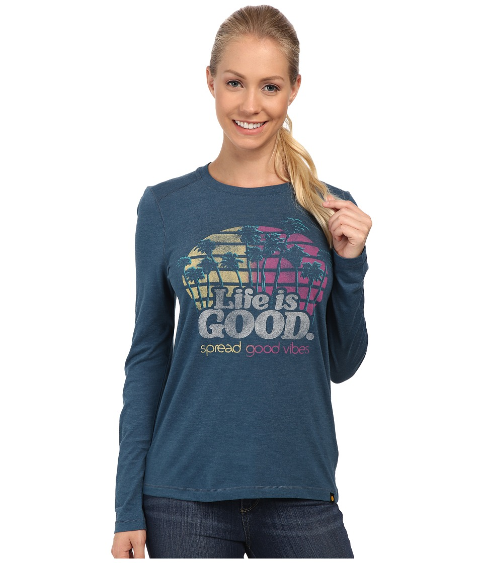 Life is good Cool L/S Tee Pacific Blue Womens T Shirt