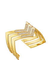 LAUREN by Ralph Lauren - Gold Standard Openwork Chevron w/ Crystal Bangle Bracelet