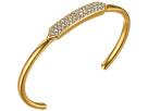 LAUREN Ralph Lauren Gold Standard Metal w/ Crystal Inlay Geo Cuff