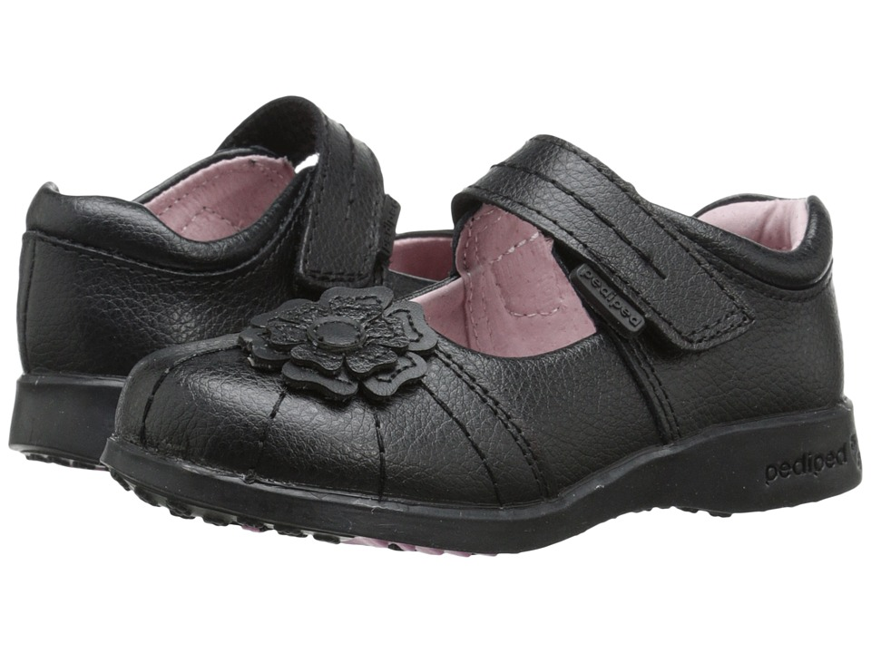 pediped Sarah Flex (Toddler/Little Kid) (Black) Girl's Shoes