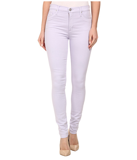 Hudson Barbara High Waist Super Skinny Jeans in Light Orchid