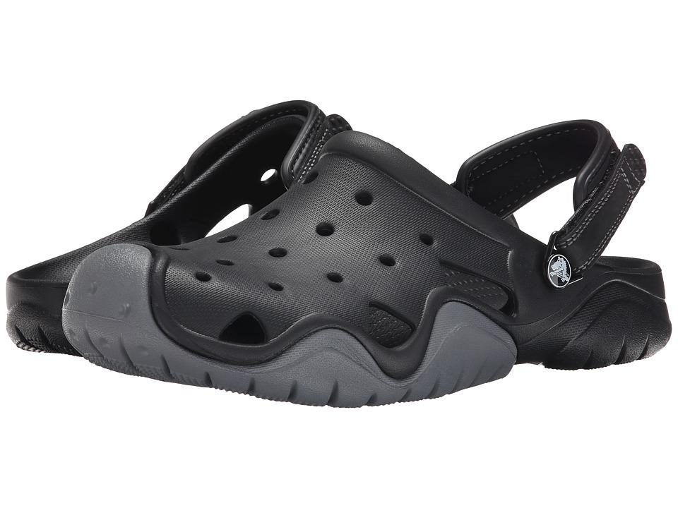 Crocs Swiftwater Clog (Black/Charcoal) Men