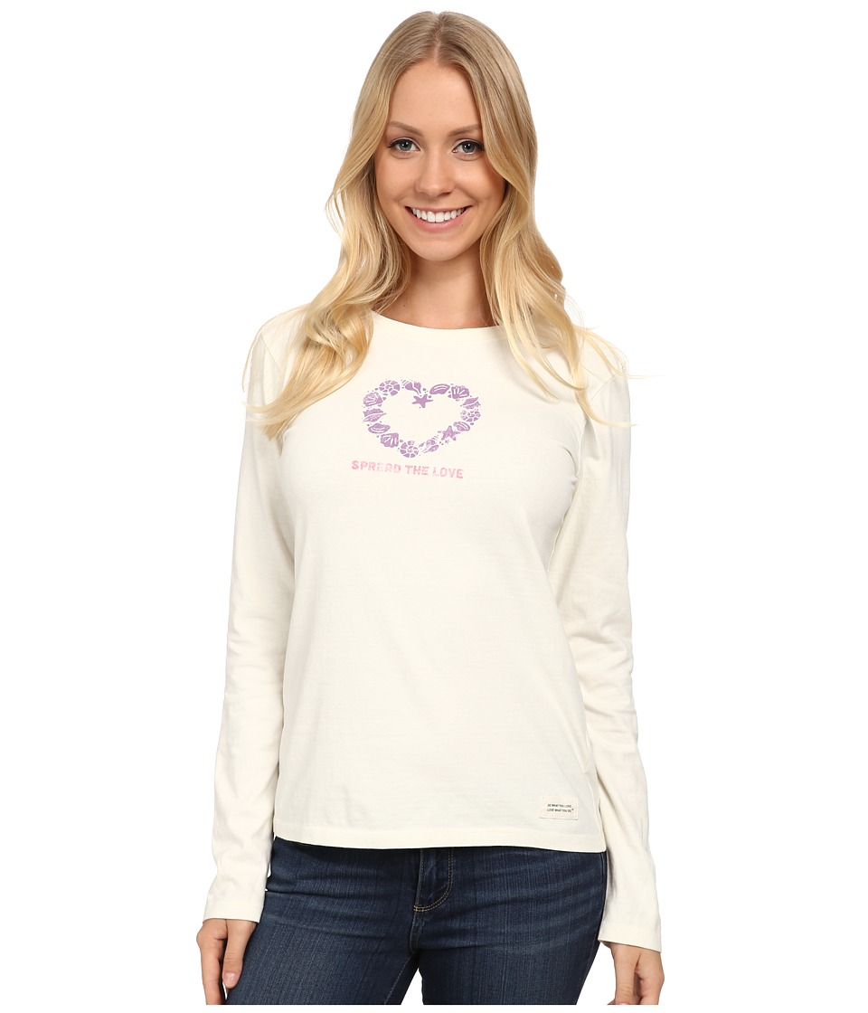 Life is good Crusher L/S Tee Seashells Love/Simply Ivory Womens Long Sleeve Pullover