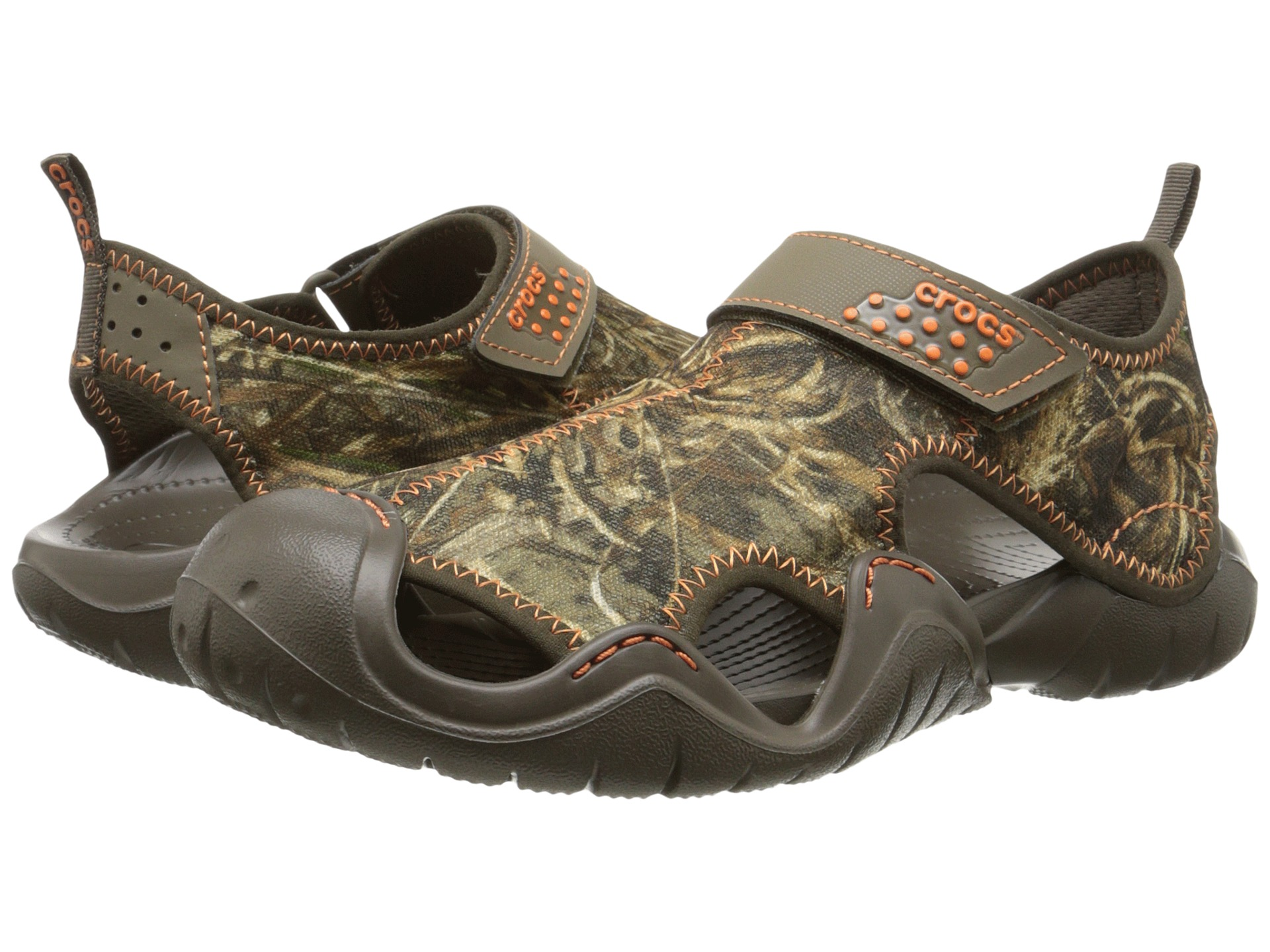 Crocs swiftwater realtree max 5 sandal free for Crocs fishing shoes