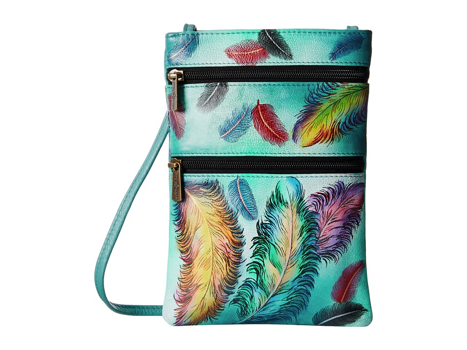 Anuschka Handbags - 448 (Floating Feathers) Cross Body Handbags