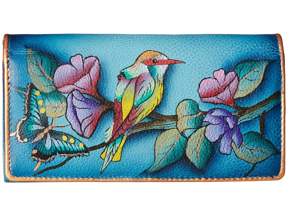 Anuschka Handbags 1095 Hawaiian Twilight Checkbook Wallet
